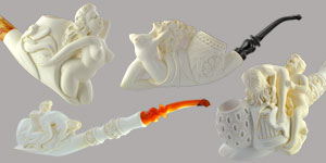 Burlesque & Meerschaum Pipes | Calabash Pipes | Tobacco Smoking Pipes - Paykoc ...