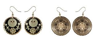 Floral - Copper Earrings