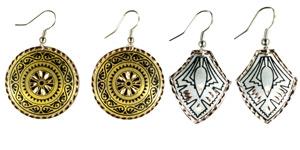 Geometric - Copper Earrings