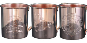 Custom Engraved Copper Mugs