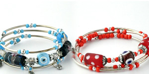 Evil Eye Memory Wire Bracelets