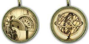 Steampunk Round Necklaces