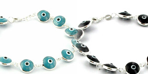 Evil Eye Sterling Silver Bracelets